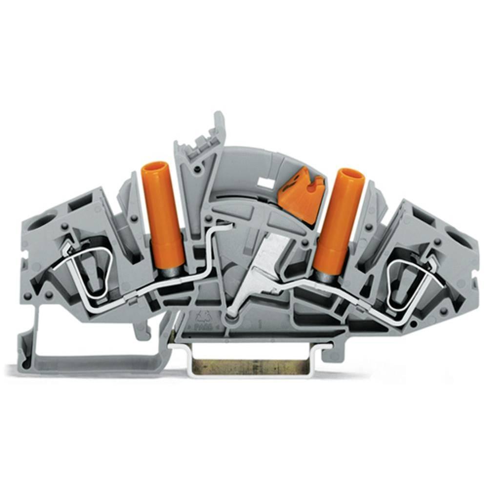 Skilleklemme 8 mm Trækfjeder Belægning: L Grå WAGO 282-821 20 stk
