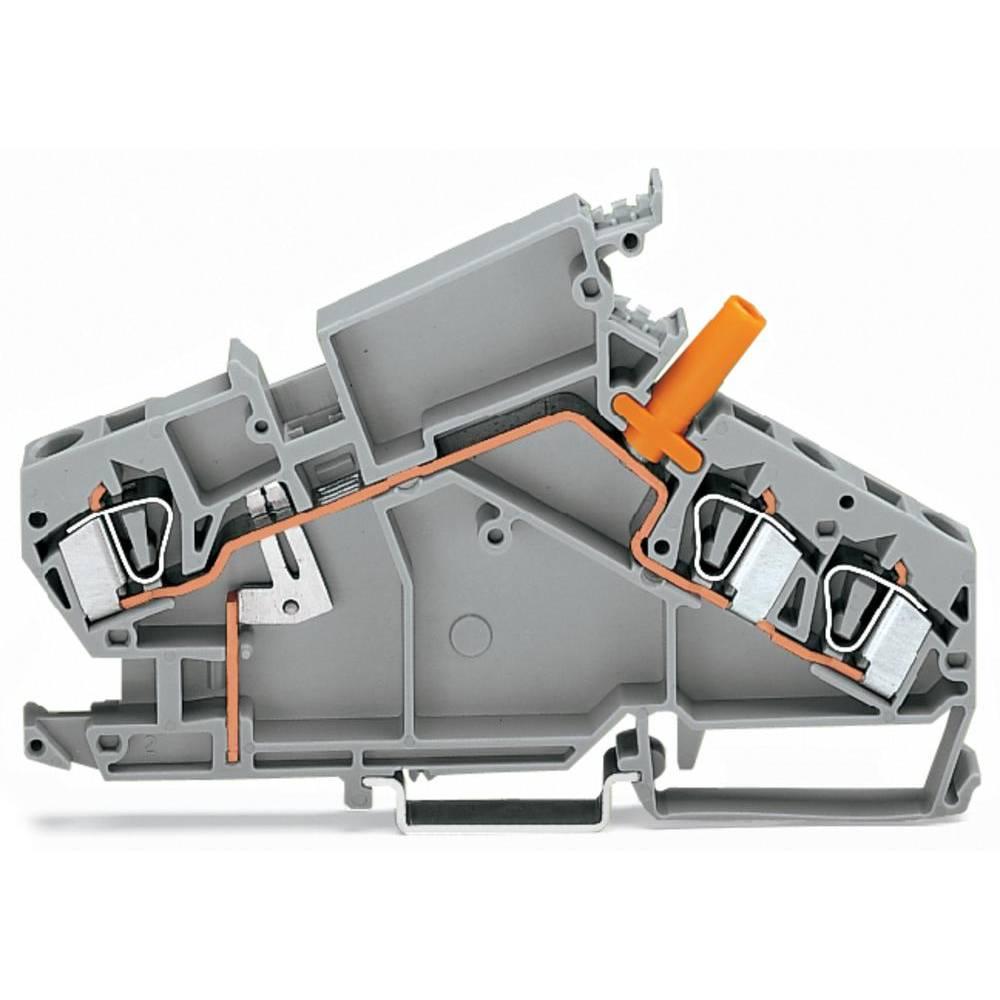 Gennemgangsklemme 8 mm Trækfjeder Belægning: L Grå WAGO 282-865 20 stk