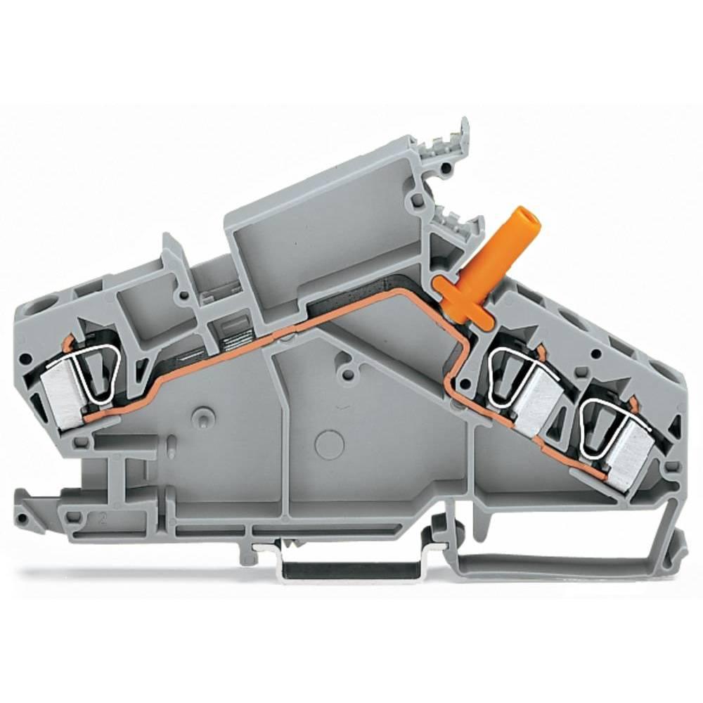 Gennemgangsklemme 8 mm Trækfjeder Belægning: L Grå WAGO 282-866 20 stk