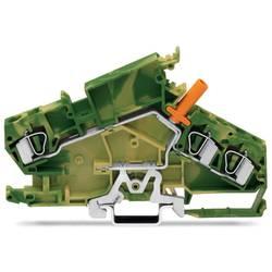 Jordklemme 8 mm Trækfjeder Belægning: Terre Grøn-gul WAGO 282-868 20 stk