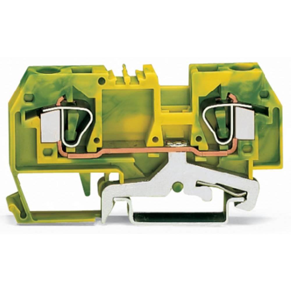 Jordklemme 8 mm Trækfjeder Belægning: Terre Grøn-gul WAGO 282-907/999-950 50 stk
