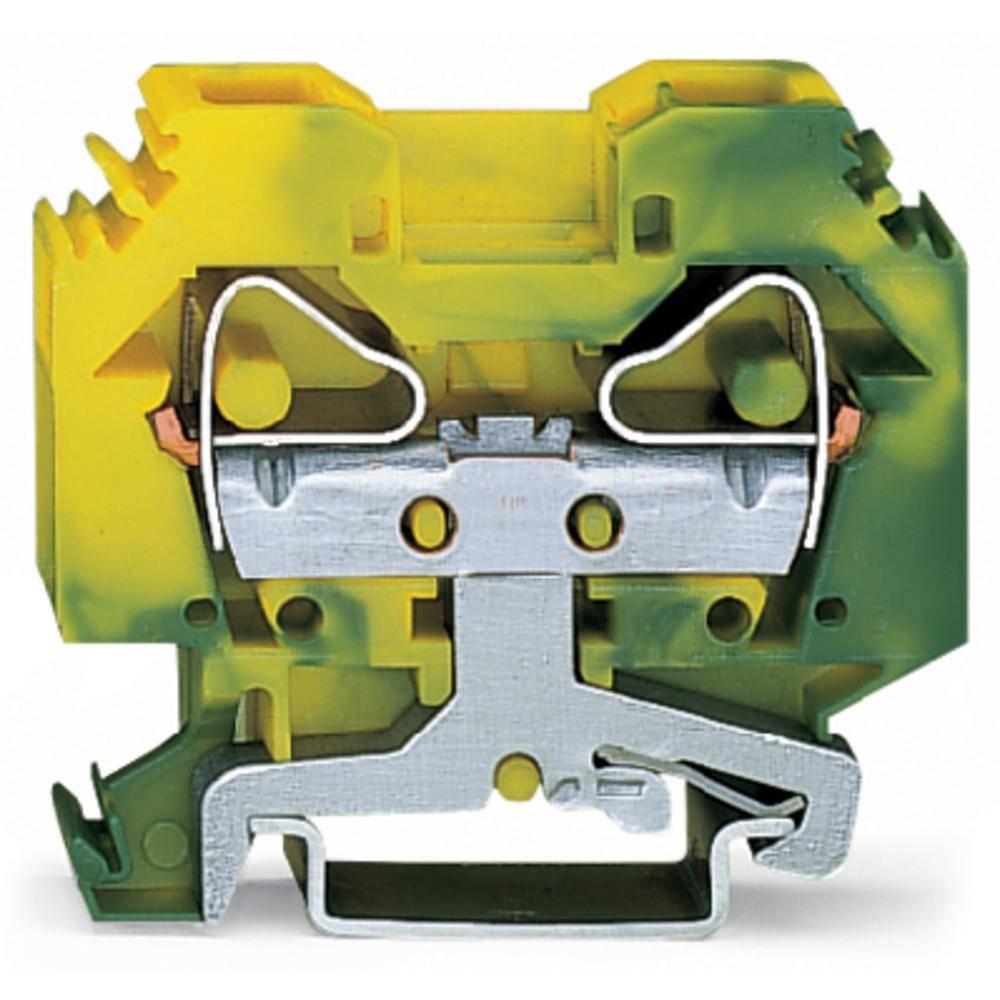 Jordklemme 12 mm Trækfjeder Belægning: Terre Grøn-gul WAGO 283-107 50 stk