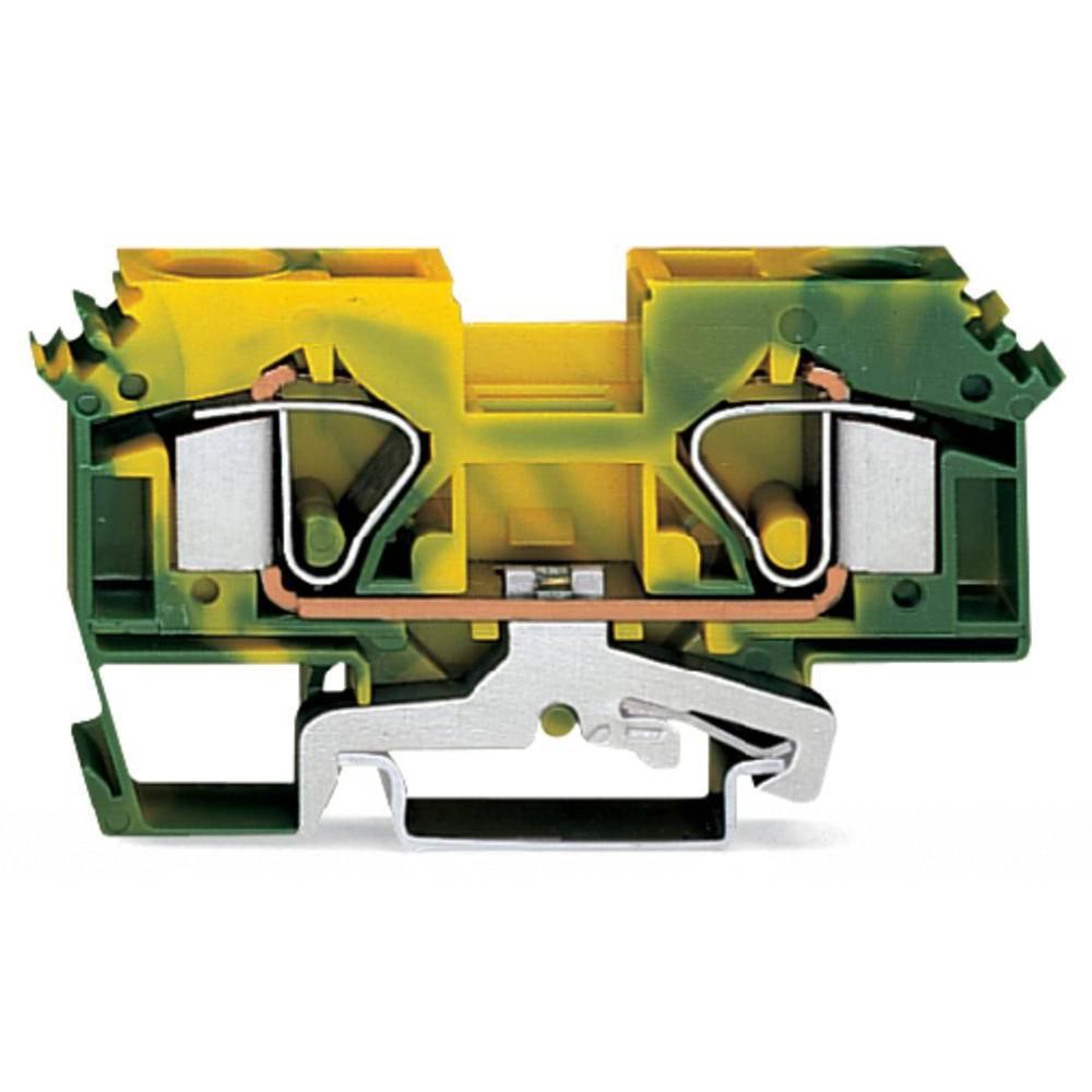 Jordklemme 12 mm Trækfjeder Belægning: Terre Grøn-gul WAGO 283-607 25 stk