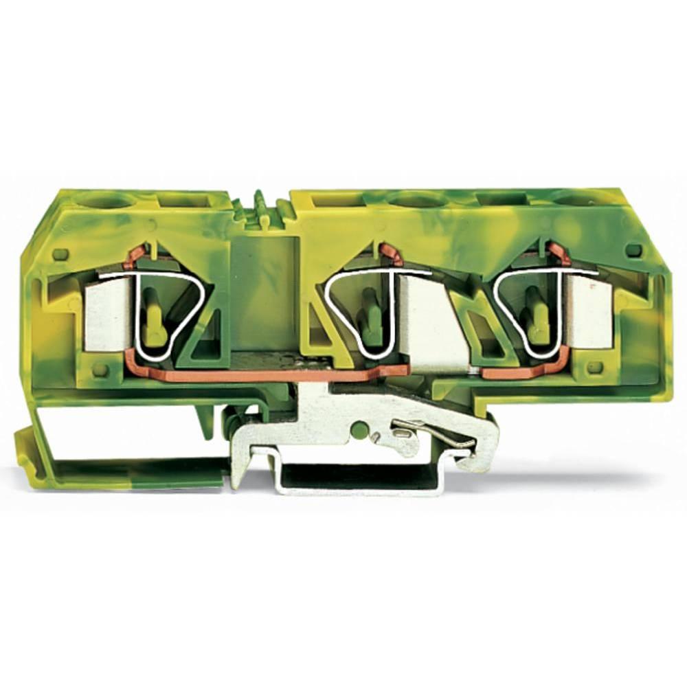 Jordklemme 12 mm Trækfjeder Belægning: Terre Grøn-gul WAGO 283-677 20 stk