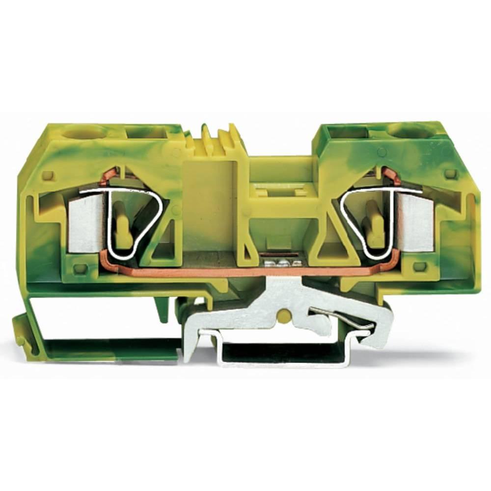 Jordklemme 12 mm Trækfjeder Belægning: Terre Grøn-gul WAGO 283-907 20 stk