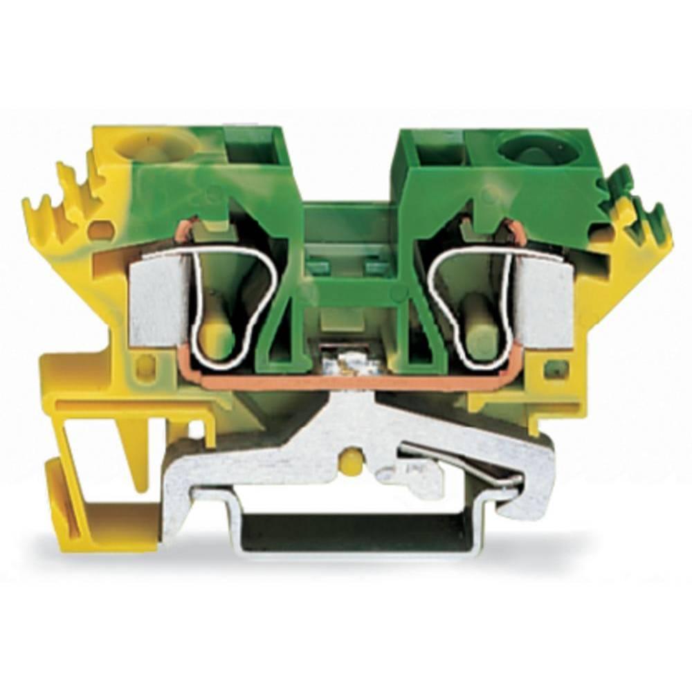 Jordklemme 10 mm Trækfjeder Belægning: Terre Grøn-gul WAGO 284-607 25 stk