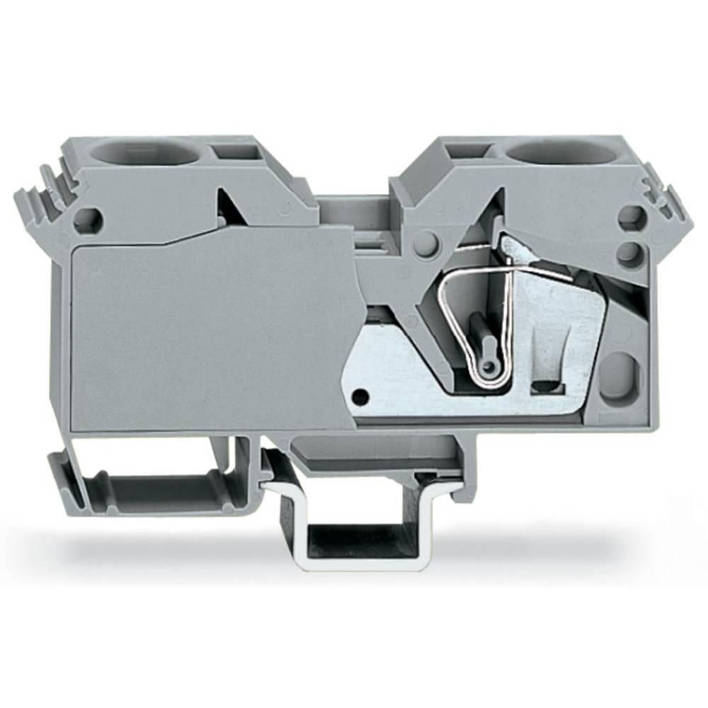 Gennemgangsklemme 16 mm Trækfjeder Belægning: L Grå WAGO 285-691 15 stk