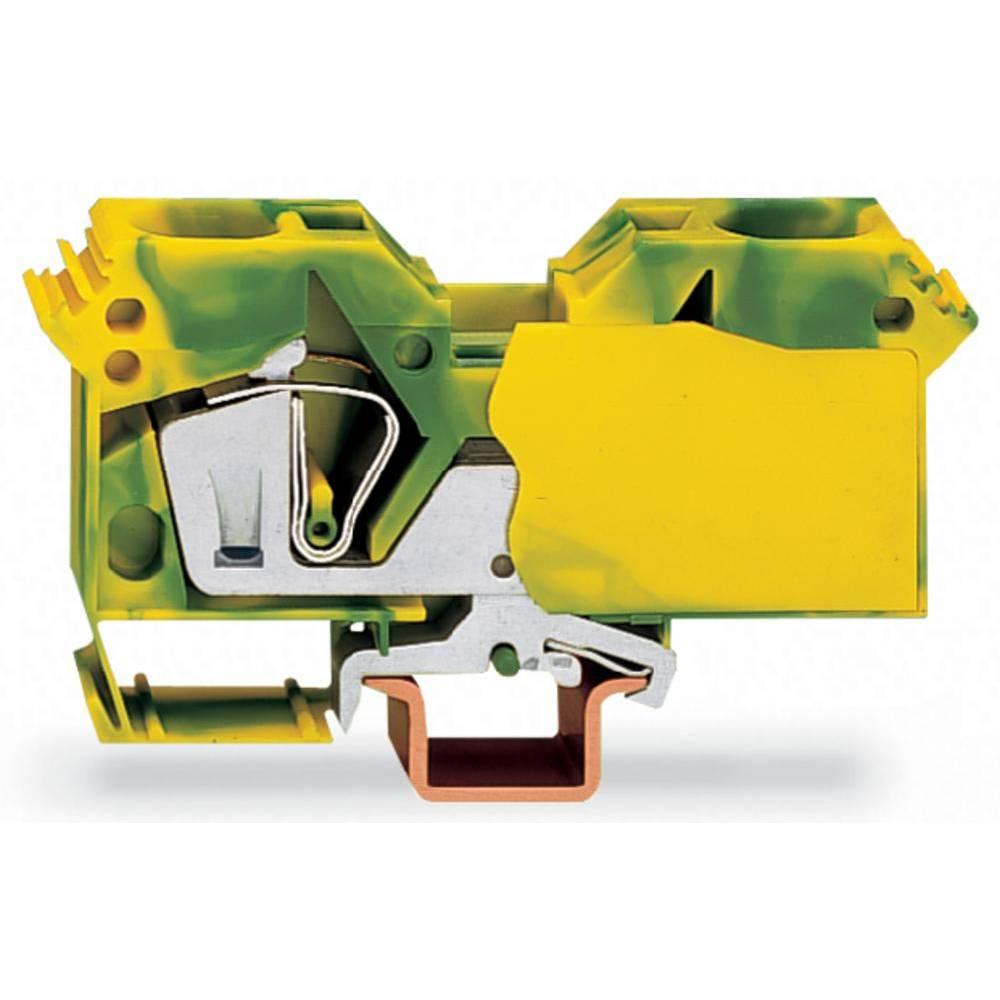 Jordklemme 16 mm Trækfjeder Belægning: Terre Grøn-gul WAGO 285-607/999-950 15 stk