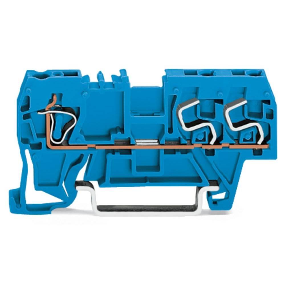 Gennemgangsklemme 5 mm Trækfjeder Belægning: N Blå WAGO 290-684 100 stk