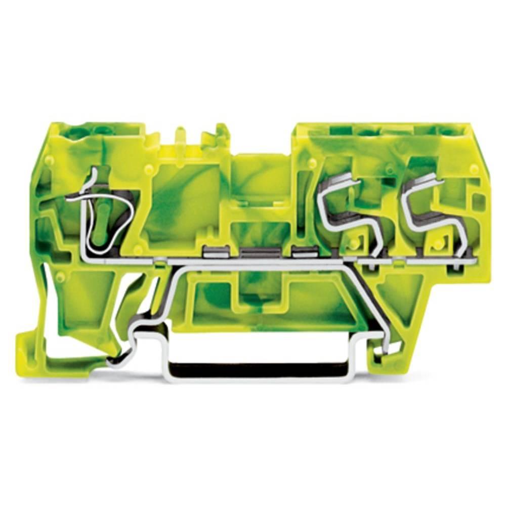 Jordklemme 5 mm Trækfjeder Belægning: Terre Grøn-gul WAGO 290-687 100 stk