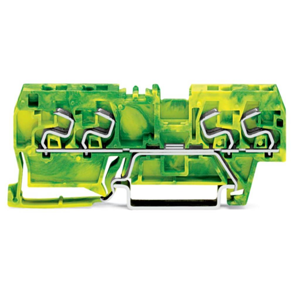 Jordklemme 5 mm Trækfjeder Belægning: Terre Grøn-gul WAGO 290-867 100 stk