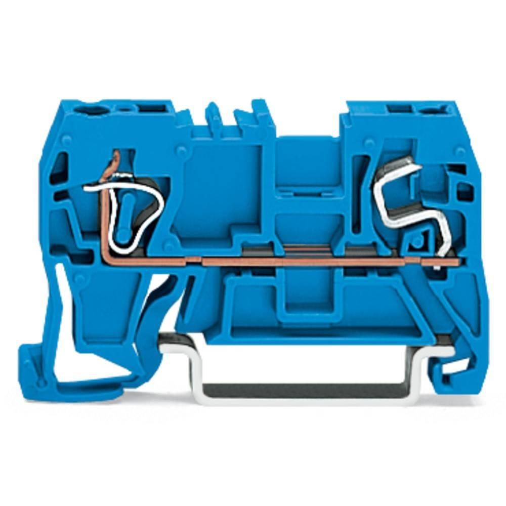 Gennemgangsklemme 5 mm Trækfjeder Belægning: N Blå WAGO 290-904 100 stk