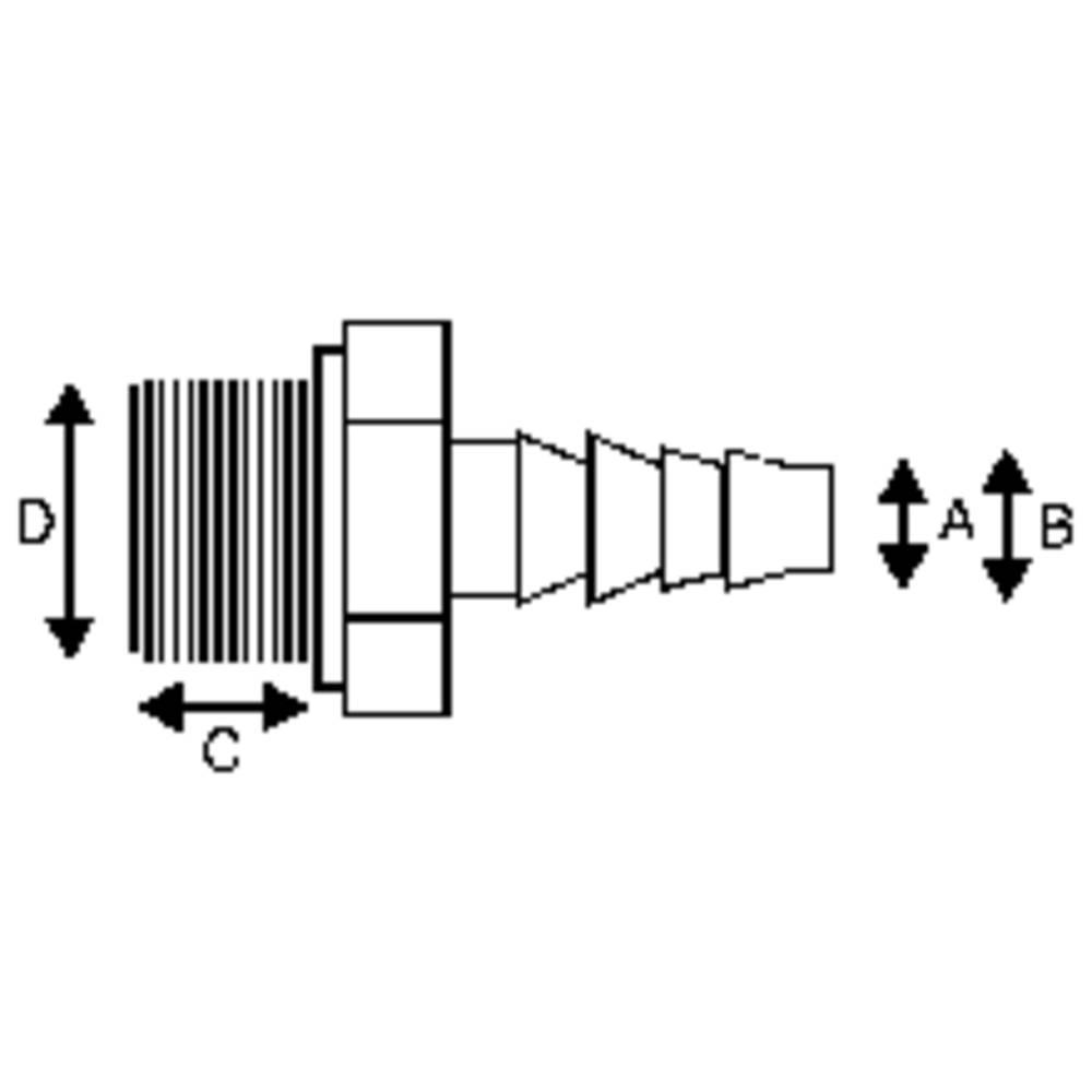 Ravni vijačni nastavek PP, 13 mm x 10/12 mm 71212