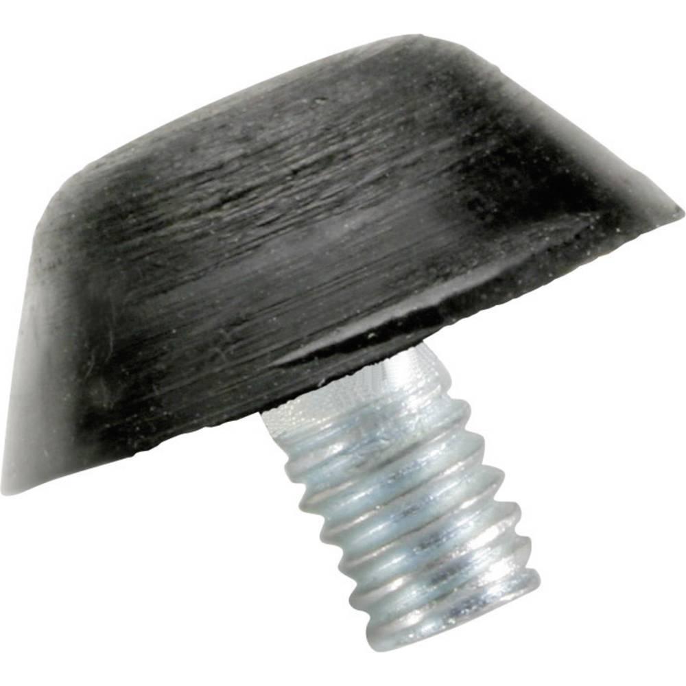 PB Fastener-Ublaživač 110718, 15x15xM4x10mm, prirodni kaučuk, crn