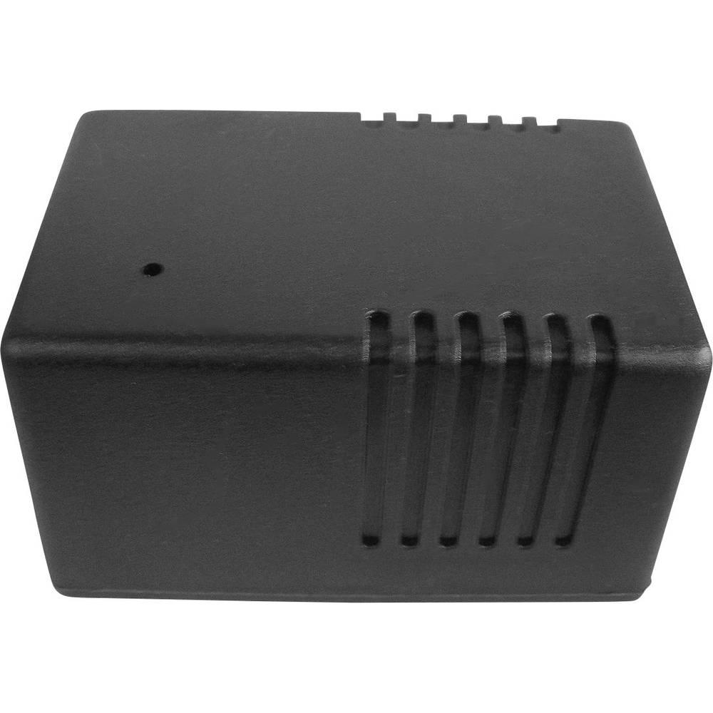 WeroPlast 21011-kućište za transformator sa prorezima za provjetravanje, ABS, crno, 100x65x55mm