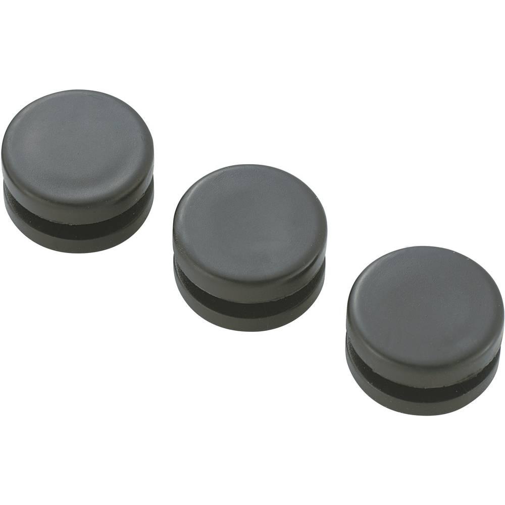 KSS GMC GMCQR-1108-Prilagodnik za usmjeravanje kablova (AxBxCxDxE) 15.5x10.9x7.8x7.8x2.3mm, crn
