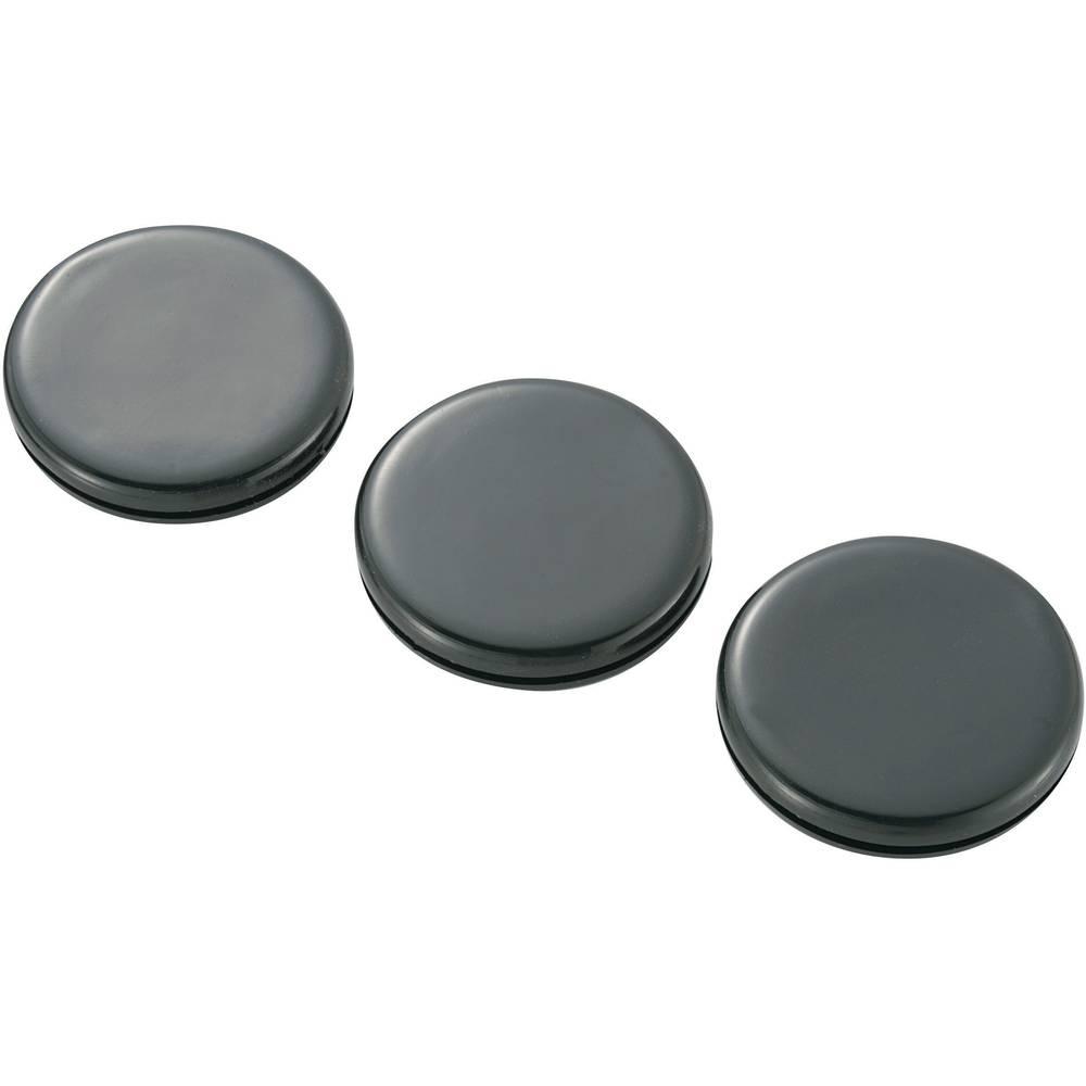Nastavek za speljavo kablov KSS GMCQR-3225, črne barve, 38,1x 31,7 x 25 x 7,8 x 1,5 mm