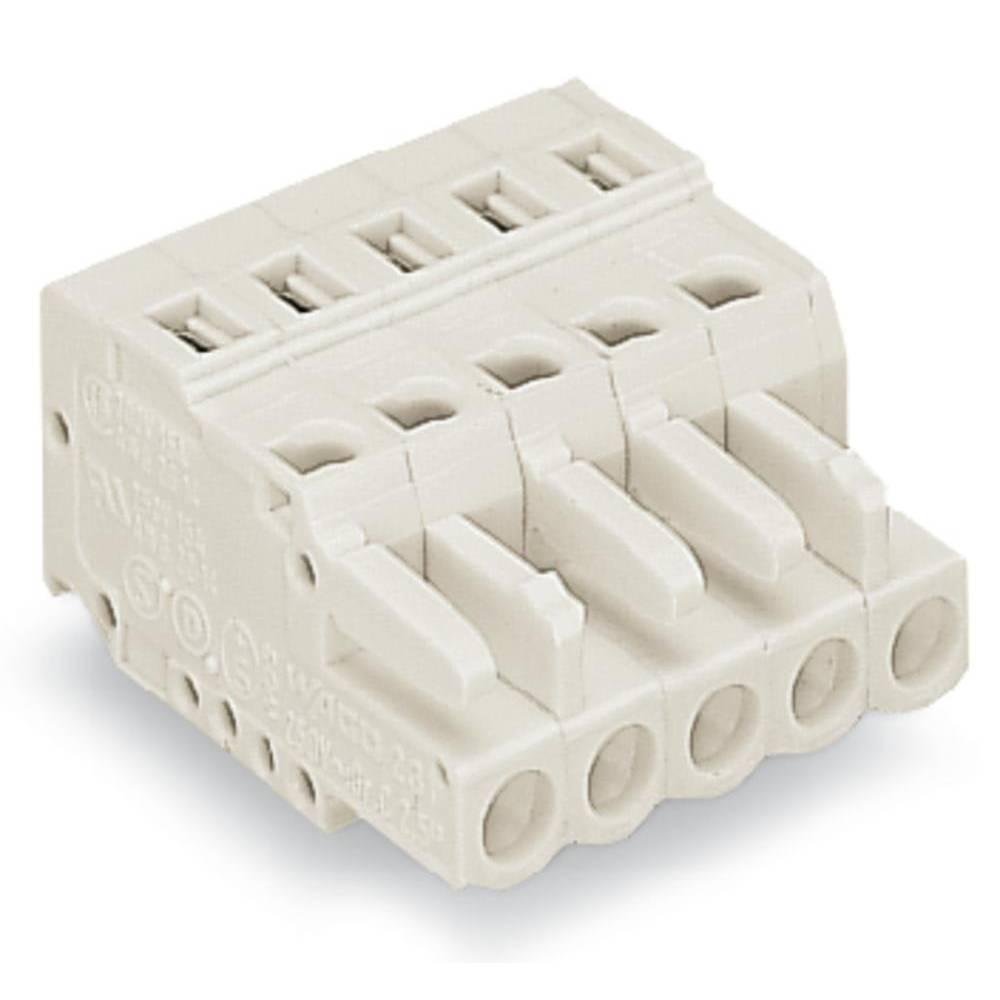 Tilslutningskabinet-kabel 721 (value.1361061) Samlet antal poler 4 WAGO 721-104/026-000/032-000 Rastermål: 5 mm 100 stk