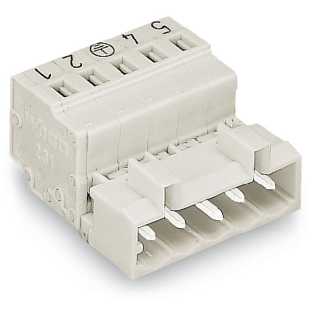 Pinski konektor (standarden) WAGO 721-604/018-042, mere: 5 mm 100 kosov