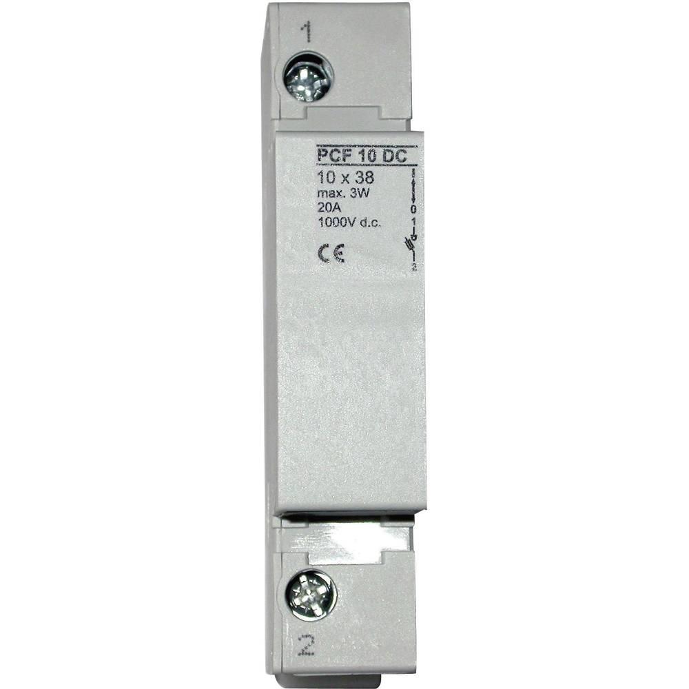 ESKA Držalo za varovalke za fotovoltaično varovalko 10,3 x 38 mm 1038001, 1 polna