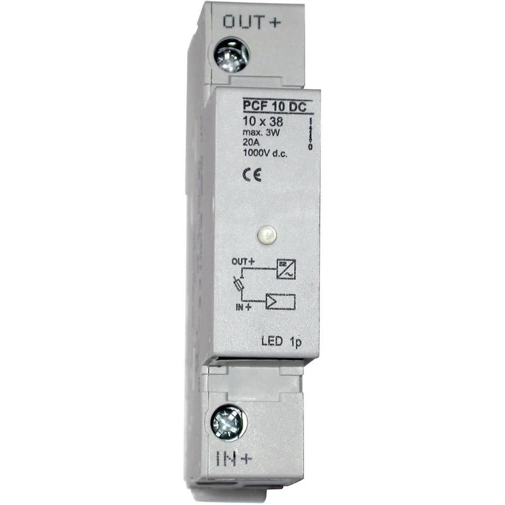 ESKA Držalo za varovalke za fotovoltaično varovalko 10,3 x 38 mm 1038003, 1 polna z LED