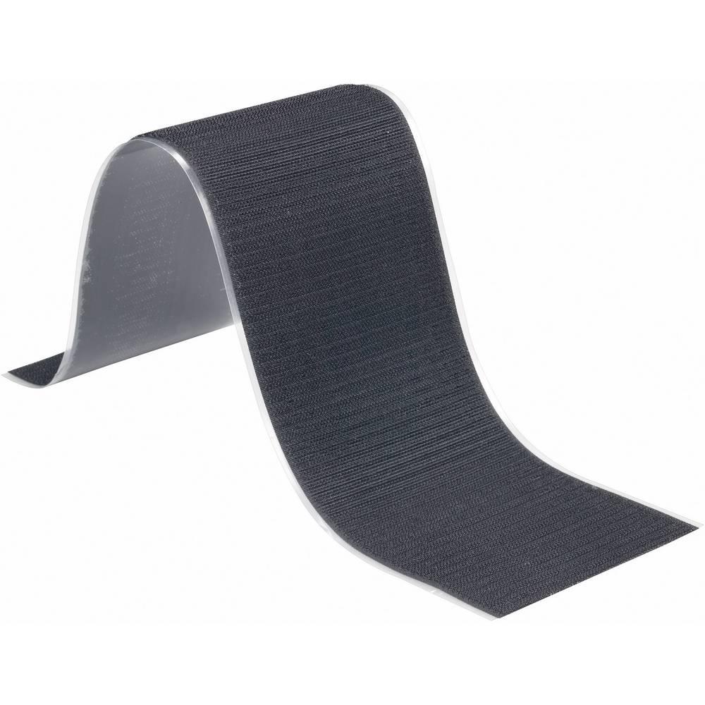 Samolepilni sprijemalni trak Fastech T0105099990305, sprijemalni del: 500 cm x 5 cm, črn