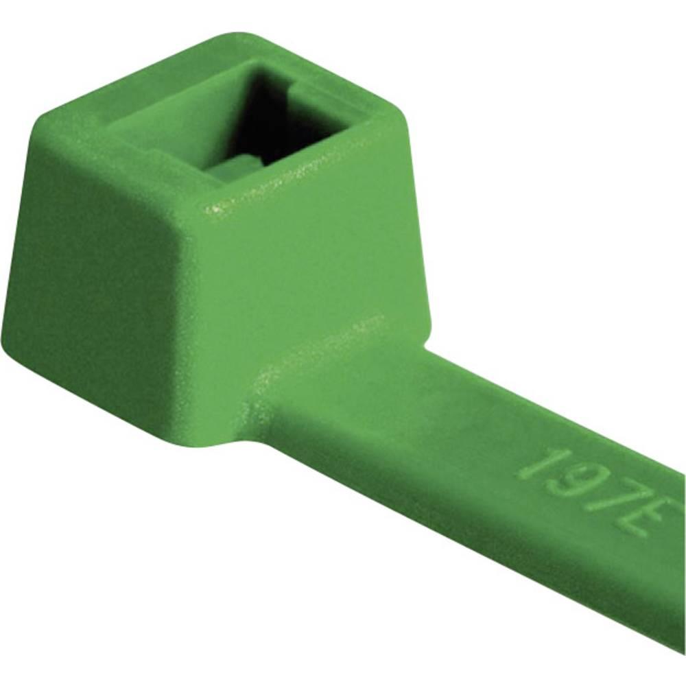 Vezice za kabele 100 mm zelene boje HellermannTyton 116-01815 T18R-PA66-GN-C1 100 kom