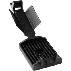 Pritrdilno podnožje, namestitev s privijanjem, samolepljiva za ploščati kabel, z akrilnim lepilom, schlagzäh črne barve Hellerma