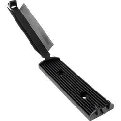 Pritrdilno podnožje, samolepljivo, namestitev s privijanjem za ploščati kabel, z akrilnim lepilom, schlagzäh črne barve Hellerma