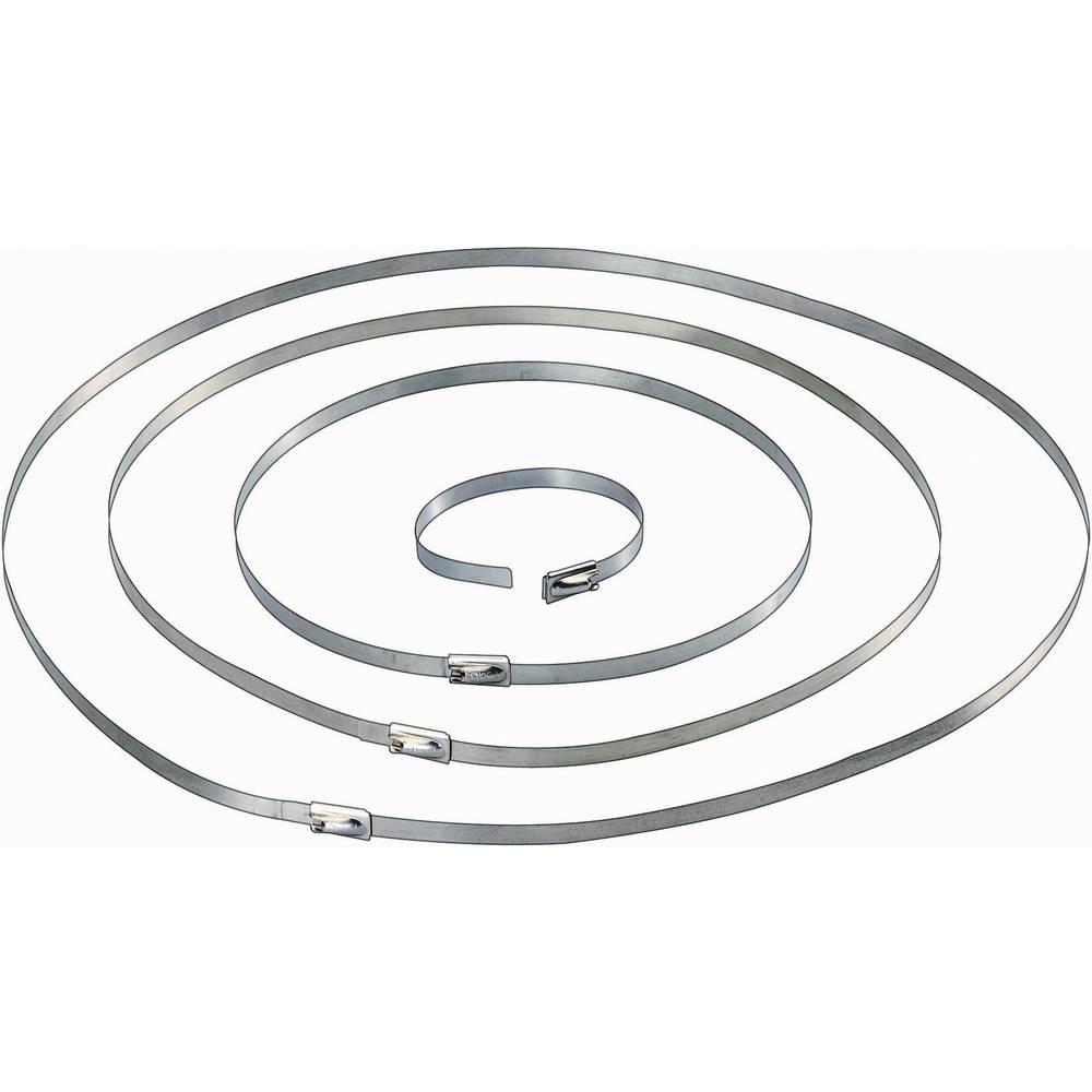 Vezice za kabele 201 mm srebrne boje Conrad Components 546574 10 kom