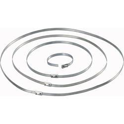 Vezica za kabele 201 mm srebrne boje Conrad Components 546574 10 kom.