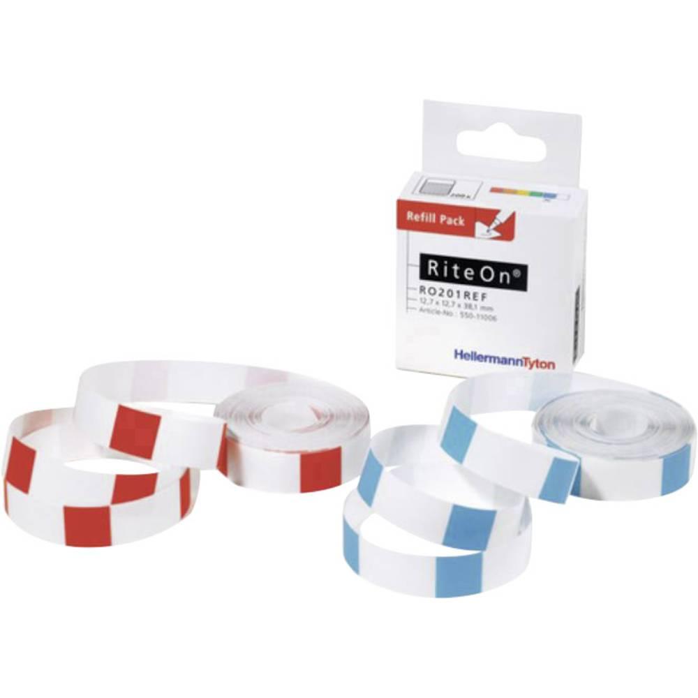 Etikete za označevanje kablov RiteOn 25.40 x 19.10 mm HellermannTyton 550-71401 RO203REF-100-WH