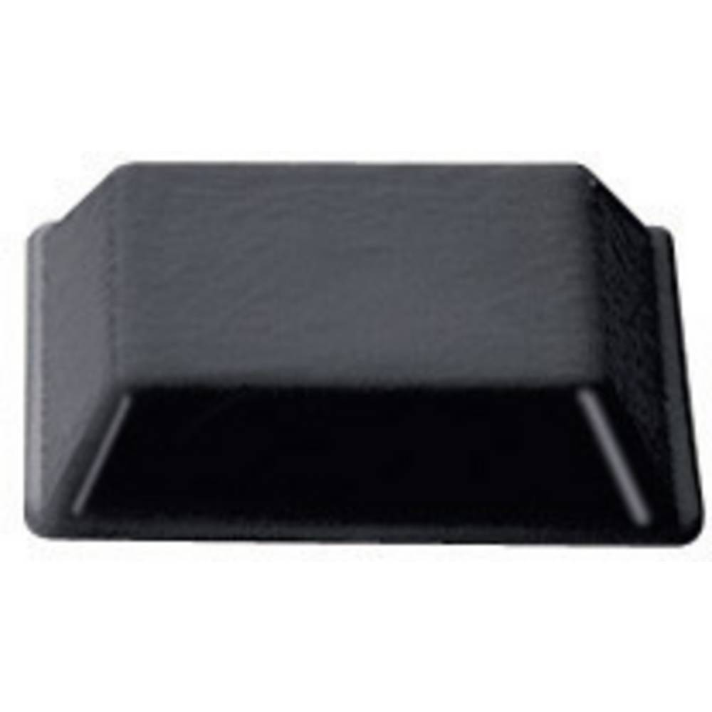 PB Fastener Self fødder (B x H) 12.7 mm x 3 mm PU Sort Indhold 10 stk
