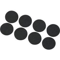 Podloga od filca, samoljepljiva, okrugla, crne boje (Ø x V) 25 mm x 3 mm 8 kom.