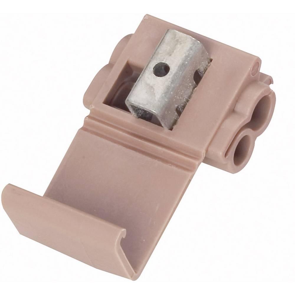 Spojka za šibki tok, prilagodljiva: 1.5-4 mm, togost: 1.5-4 mm, št. polov: 2, 3M 80-6100-3143-9, 1 kos, rjave barve