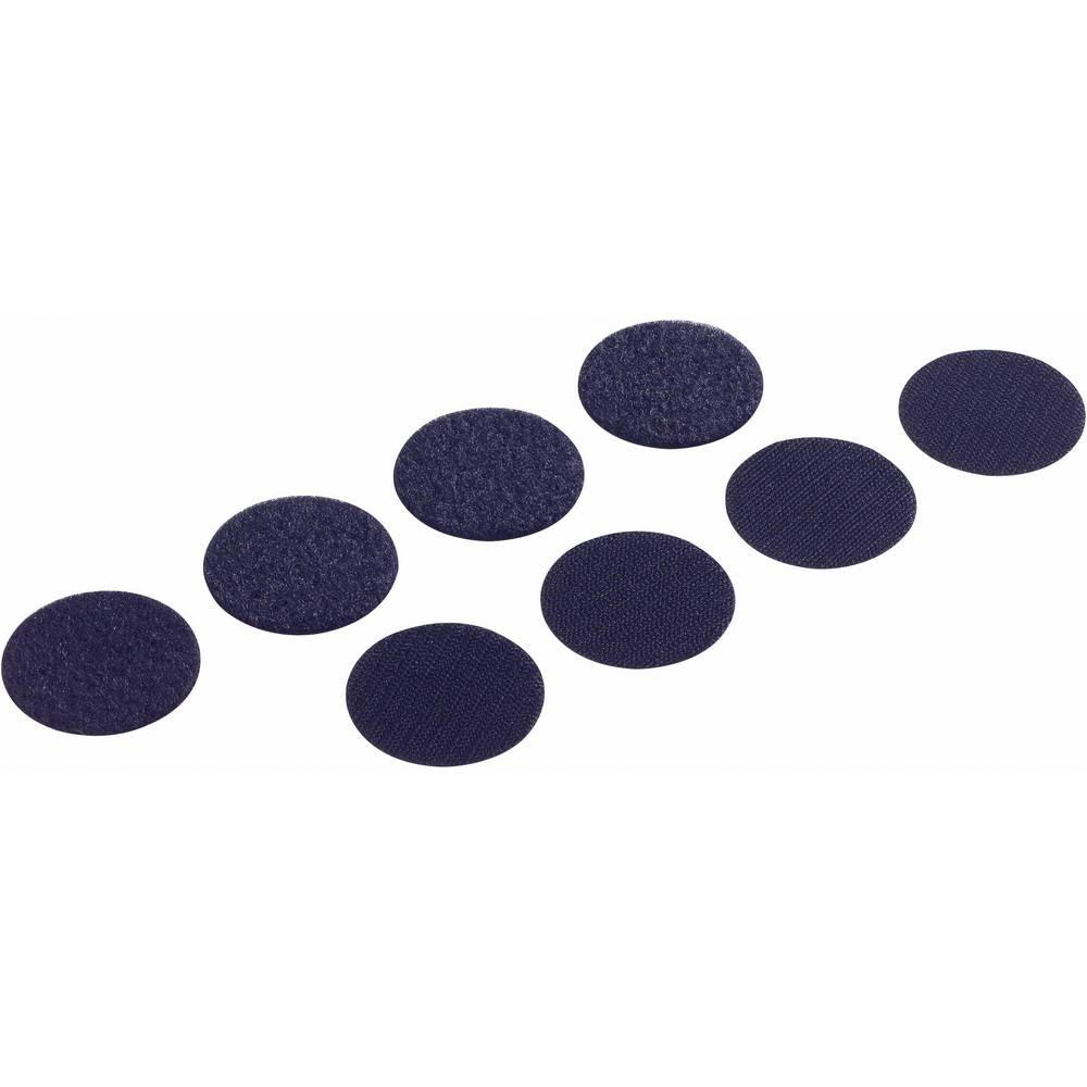 Sampljepljivi krugovi s čičkom FAST-COINS PS14 Fastech prianjajući i mekani dio Fastech promjer 19 mm crna 8 setova crna 19MM 8