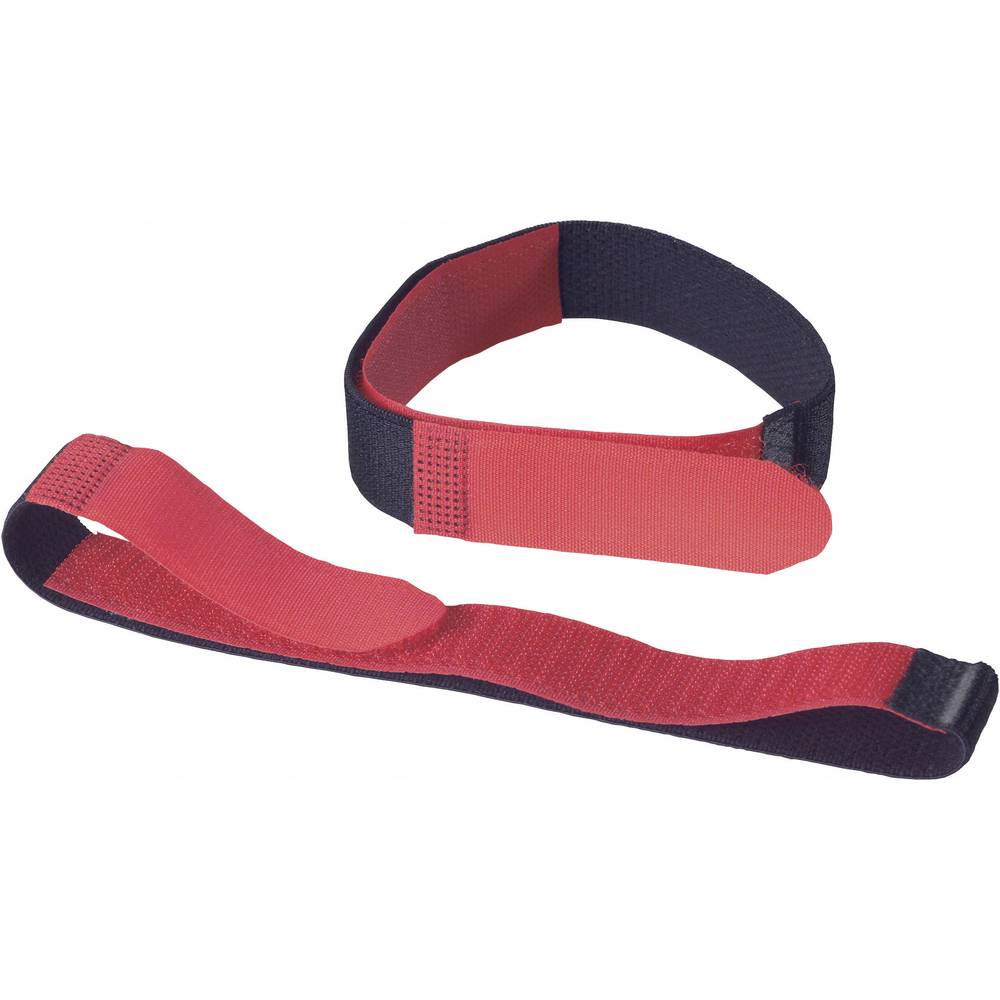 Remen s čičkom Fastech prianjajući i mekani dio (D x Š) 400 mm x 20 mm crna, crvena 693-330 2 komada