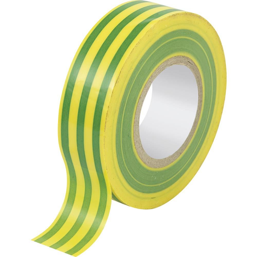 PVC izolacijska traka SW10-157 Conrad (D x Š) 10 m x 19 mm zelena, žuta PVC sadržaj: 1 kolut