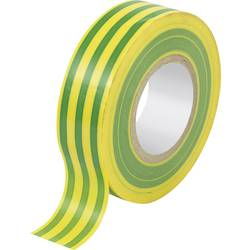 Izolirni trak zelene, rumene barve (D x Š) 10 m x 19 mm TRU COMPONENTS 1563946 1 kolut