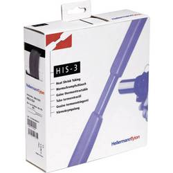 Termo skupljajuća cijev bez lijepila crne boje 18 mm omjer:3:1 HellermannTyton 308-31800 HIS-18/6-PEX-BK H&B