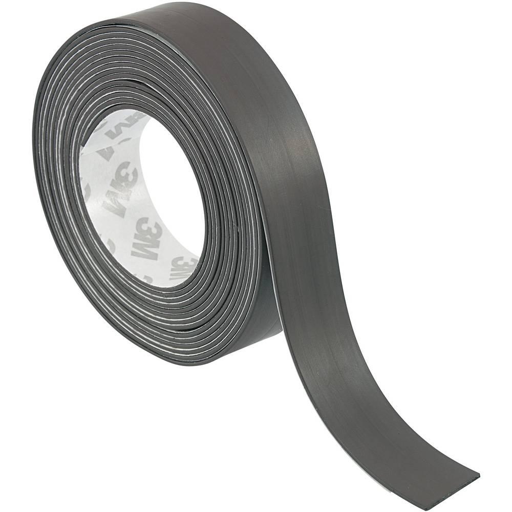 Magnetni lepilni trak TRU Components S513-320 črne barve (D x Š) 3 m x 20 mm vsebina: 1 kolut