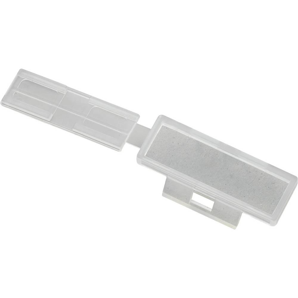 Ploščica za označevanje, vrsta montaže: kabelska vezica, območje tiskanja: 30 x 9.50 mm naravne barve TRU Components TC-MC1203 1593120 1 kos