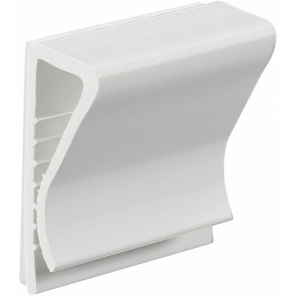 Pritrdilno podnožje z akrilnim lepilom bele barve HellermannTyton 154-01119 130100-PVC-WH-D1 1 kos
