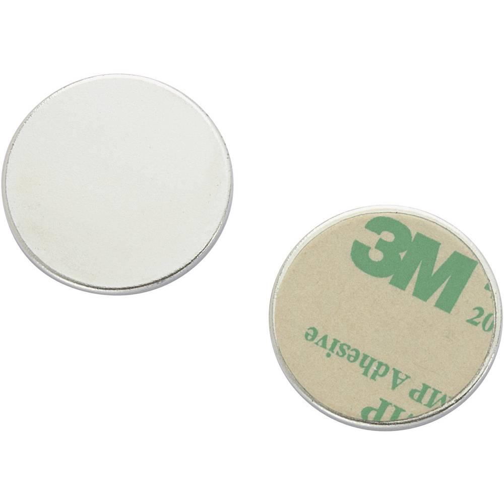 Magnetni plošček TRU Components N35-2502 srebrne barve (premer) 25 mm vsebuje: 1 kos