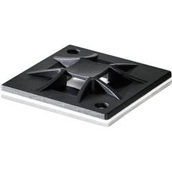Pritrdilno podnožje, namestitev s privijanjem 4 stransko črne barve HellermannTyton 151-10911 QM20-PA66-BK-C1 1 kos
