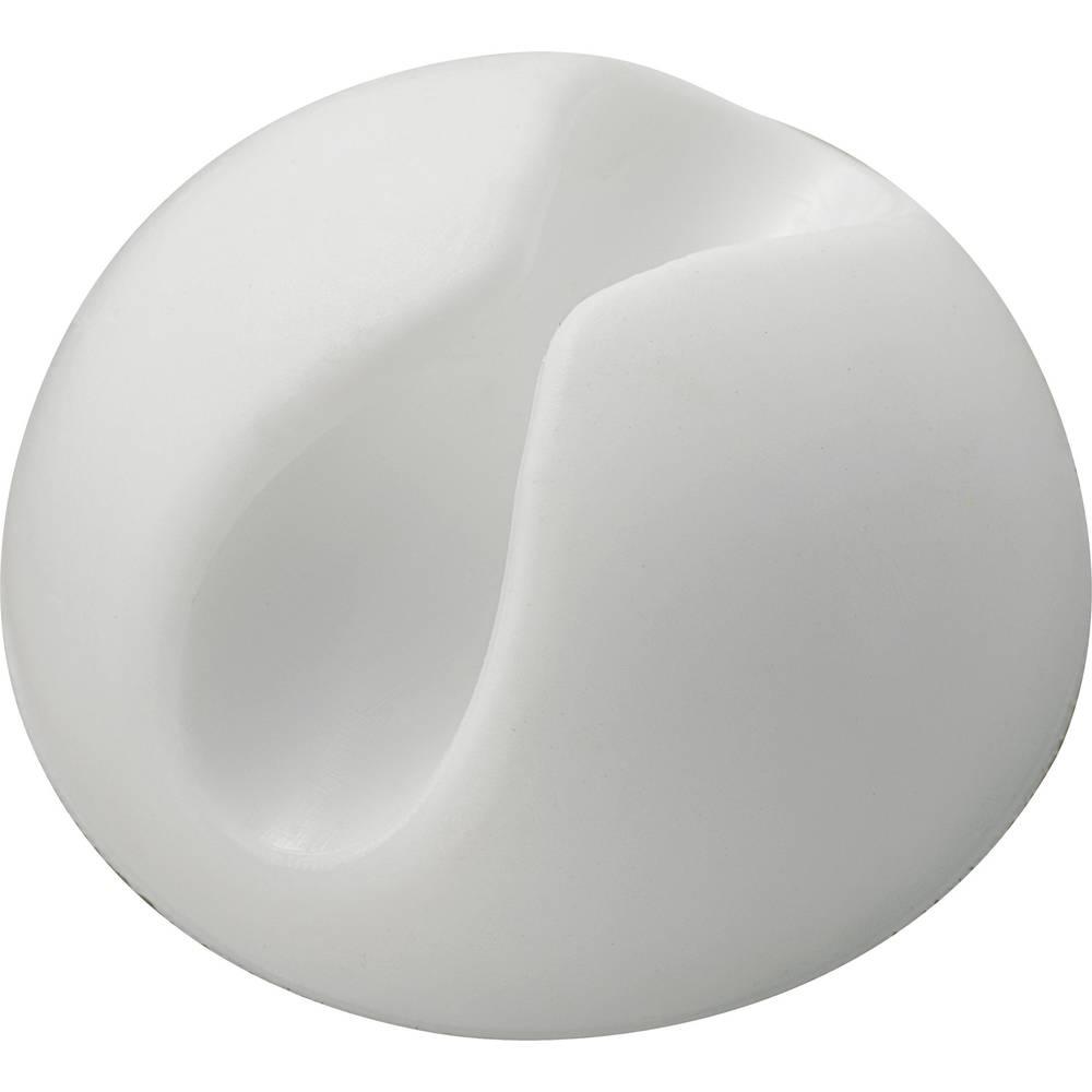 Držalo za kable samolepljiva bele barve 542271 1 kos