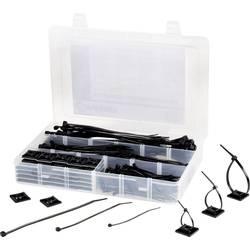 Sortiment kabelskih vezic 190 mm črne barve TRU Components 542293 EPR-350UV 1 set