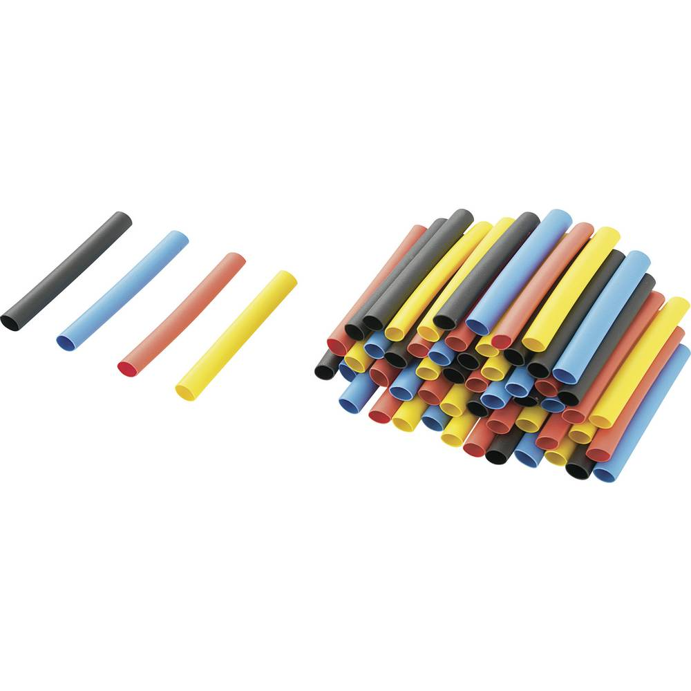 Dodatne barvne skrčljive ceviza polnjenje kompleta (kat. št.54 23 51) 2 : 1, 40 mm, 80 ko RPS4 Conrad