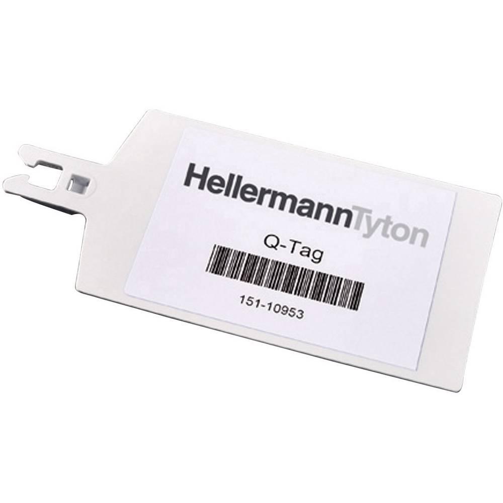 Označevalnik za kable, površina: 70 x 42 mm bele barve HellermannTyton QT7040R 151-10951 1 kos