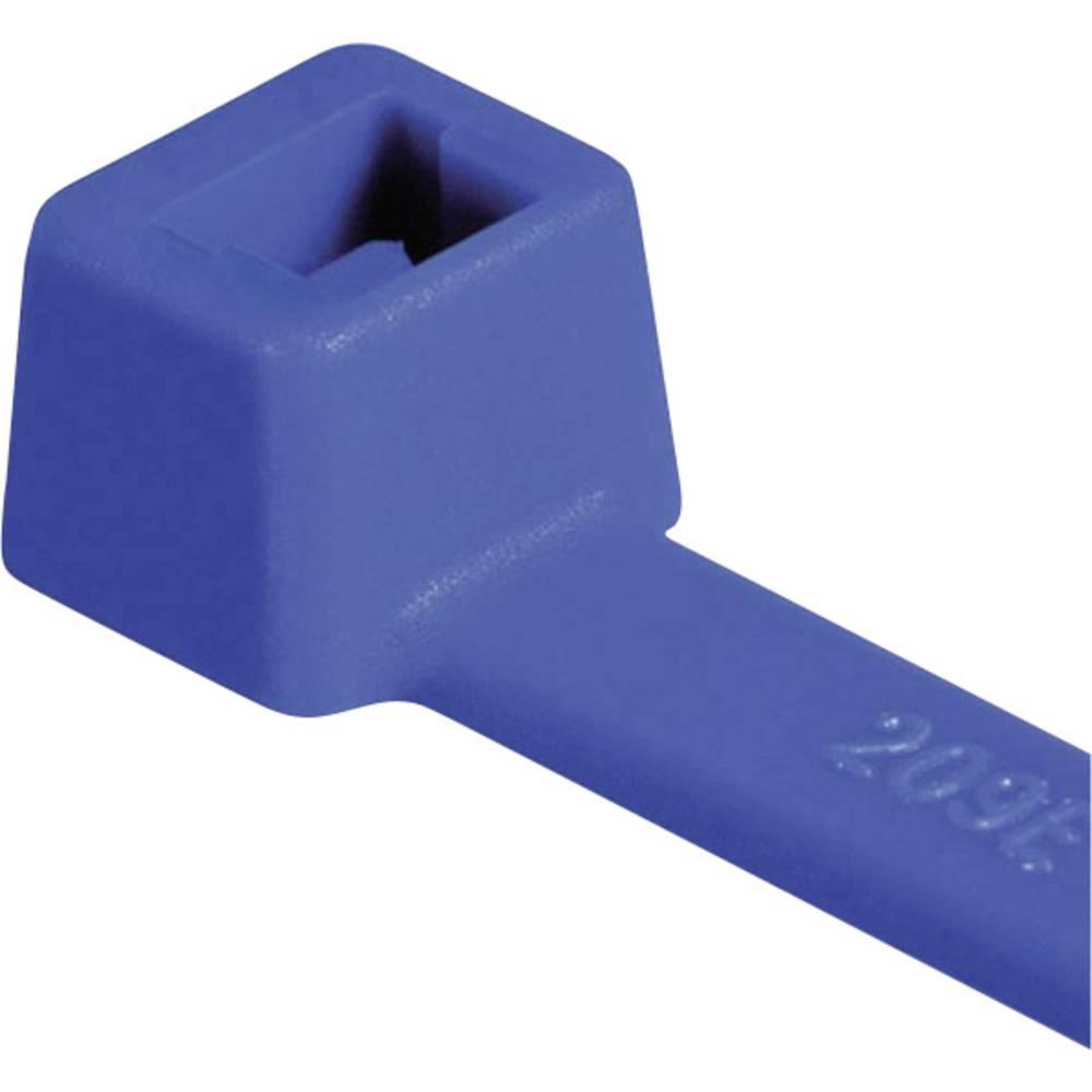 Vezice za kabele 150 mm plave boje HellermannTyton 111-03008 T30R-PA66-BU 100 kom